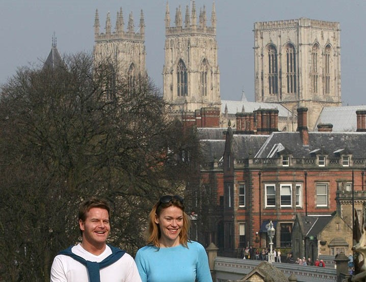 City Walls With York Minster